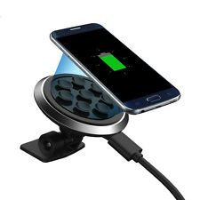 2-in-1 Vacuum Sucker Car Mount Holder + Qi Wireless Charger for Samsung LG Nokia
