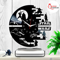 Star Wars Vinyl Clock Darth Vader Wall Art Best Yoda Gift Record Decor Death R2
