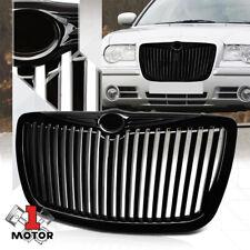 For 2005-2010 Chrysler 300/300C {VERTICAL-BAR} Glossy Black Bumper Grille Grille