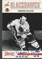 Chicago Blackhawks PIERRE PILOTE Signed Card