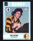 1977 SCANLENS CARD - IAN PATON (HAWKS) (NEAR MINT)