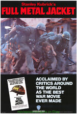 FULL METAL JACKET MOVIE POSTER Original 90's Video One Sht+Bonus STANLEY KUBRICK