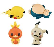Bandai Pokemon Capchara Figure 2 Pikachu Snorlax Torchic Mimikyu Set 4 pcs