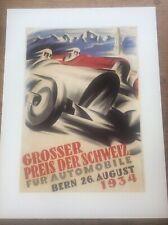 Vintage Classic MotorSport car Racing Poster 16x12 Bern 1934