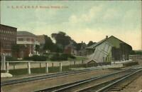 Bristol CT RR Train Station Depot c1910 Postcard