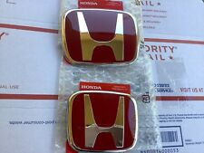 2pcs set Honda ACCORD 2018-20 JDM Red H Front Rear Type R grille grill emblem