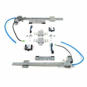 Flat Glass Window Switch Kit w/ Billet Crank Handles for 49-61 Desoto saginaw