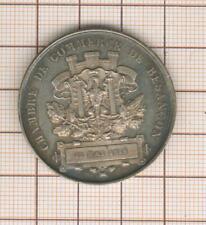 jolie médaille argent nice silver chambre de commerce de Besançon