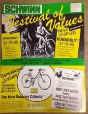 original 1977 Schwinn Bicycle Co. FESTIVAL OF VALUES Sale brochure catalog