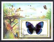 Papillons Um al qwain (31) bloc oblitéré