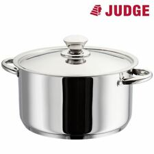 Judge Platina Polished Stainless Steel Vented Induction Casserole Pan 24cm NEW