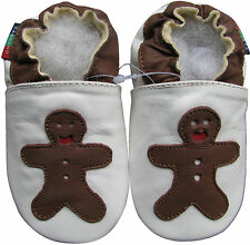 shoeszoo soft sole leather baby shoes gingerbread white 6-12m S