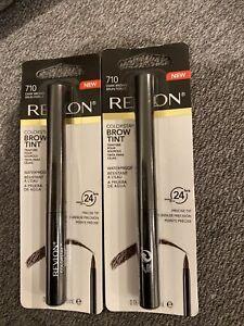 Lot Of 2 Revlon Colorstay Brow Tint #710 DARK BROWN