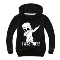 New DJ Marshmello man Boys Girls Fortnite lightweight tops hoodie suit 4-14 year
