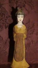 ANTIQUE 19C CHINESE TOMB CLAY POTTERY NOBLE WOMAN ,QUAN-YIN STATUE #2,OLD ESTATE
