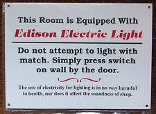 EISENBAHN SCHILD - EDISON BENENNEN ELEKTRISCH LICHT (ENERGIE)