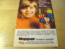PUBBLICITA' ADVERTISING WERBUNG 1969 NOPPER EDITRICE GIOCHI