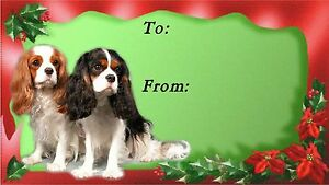 Cavalier King Charles Spaniel Dog Christmas Labels by Starprint