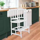 FIRSTGO-TECH Kitchen Helper Stool for Kids and Toddlers with Safety Rail, Kids