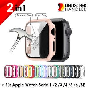 Apple Watch Schutzhülle mit Glas Series 1 2 3 4 5 6 SE Case Displayschutz Bumper