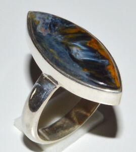 Pietersite 925 Sterling Silver Ring Jewelry s.6 JJ11757