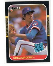 1987 donruss greg maddux rated rookie card #36 chicago cubs