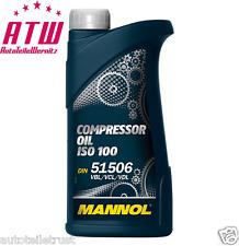 1 LITER Kompressorenöl ISO 100 DIN 51506 VDL VCL VBL Kompressoröl Compressor Oil