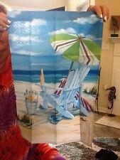 New listing Beach Chair / Ocean Scene Screen Printed Garden Flag