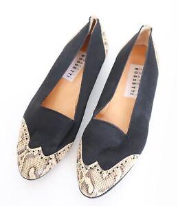 Fratelli Rossetti Pumps / Flat Shoes - Snakeskin (Label 37) Fit 37.5 Wide