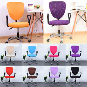 Pure Color Split Chair Covers Elastic Seat Cover Swivel Armchair Cover Slipcover