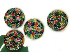 (4) Mosaic Stained Glass Coasters