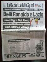 GAZZETTA DELLO SPORT 6 ottobre 1997. MOTOCICLISMO MAX BIAGGI MONDIALE DEL PIERO