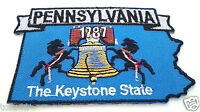 *** PENNSYLVANIA STATE MAP *** Biker Patch PM6739 EE