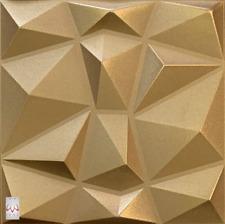 3D Wandpaneele Polystyrol Deckenpaneele Platten Paneele Diamant Gold 50x50cm
