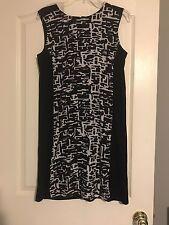 Peter Nygard Petites Lined Black & White Dress Shift Sz 10 Petite