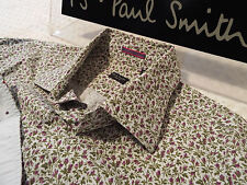 """PAUL SMITH Mens Shirt 🌍 Size 15.5"""" (CHEST 42"""")🌎 RRP £95+📮FLORAL LIBERTY STYLE"""