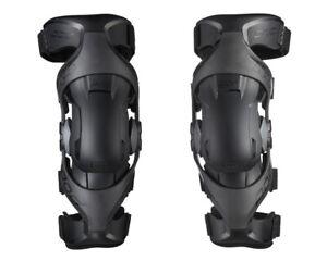 NEW 2021 POD K4 2.0 KNEE BRACES BLACK PAIR + FREE BAG MOTOCROSS MX ENDURO ADULT