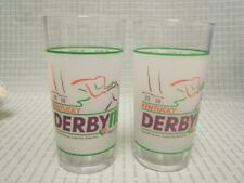 "Vintage Lot of 2 1992 Kentucky Derby Glasses 5-1/4"" Height VGC"