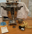 Vintage Metal Urn Coffee Percolator w/Manual And Original Tag-NicePiece