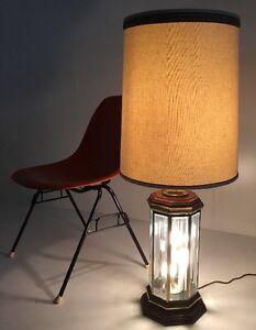 Vintage Retro Mid Century Danish Modern Circa 1970s Infinity Octagon Lamp
