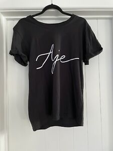 AJE Black Ribbon Logo Tee Exc Condition Size XS