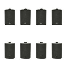 8x Adastra Background Speaker Black 100V 60W PA System