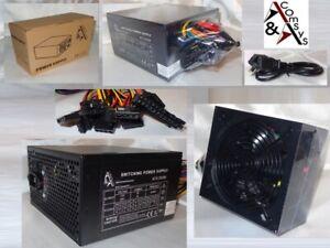 550W 550 Watt PC Netzteil ATX 20/24 P4 3x SATA 3x IDE FDD P6 PCIe Silent Lüfter