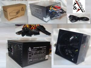550W 550 W Watt PC Netzteil ATX 20/24 P4 3x SATA 3x IDE FDD P6 PCIe Silent OVP