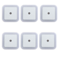6x Automatic LED UK Plug in Night Light Energy Saving Sensor Kids Night Light