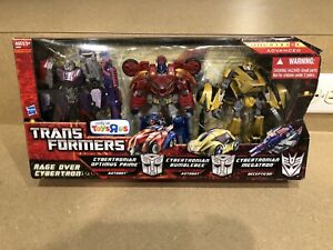Transformers Rage Over Cybertron 3 pack Optimus Prime Bumblebee Megatron WFC