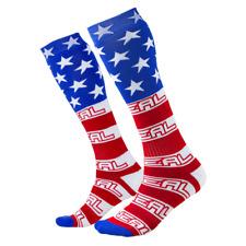 "O'neal ONEAL pro motocross MX  socks ""USA "" Adult Knee high"