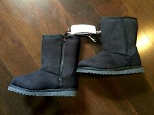 Cherokee Dalia Faux Suede Shearling Girls/Todder Boots Black Size 6 Shoes Baby