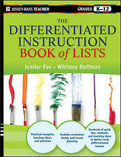 NEW The Differentiated Instruction Book of Lists by Jenifer Fox