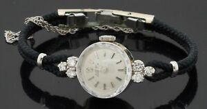 Girard Perregaux antique 14K WG .36CTW VS1/F diamond manual winding ladies watch